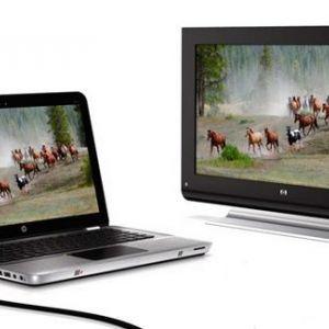 Як вивести зображення з ноутбука на телевізор