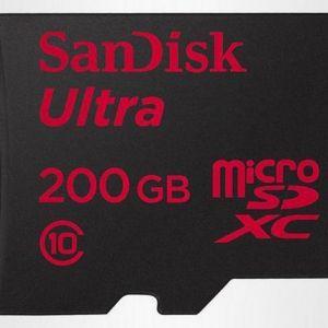Карта пам`яті microsd 200 гб від sandisk