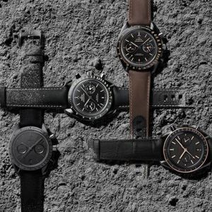 Колекція годинників omega dark side of the moon